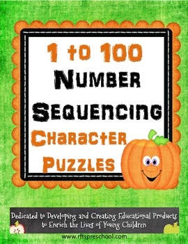Halloween Number Sequencing {1 to 100} Puzzle Fun