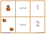Halloween Number, Set and Number Word Match