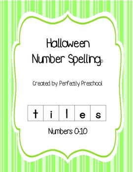 Halloween Number Spelling Tiles