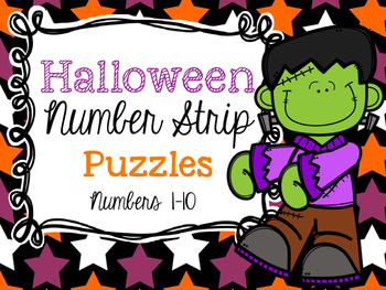 Halloween Number Strip Puzzles