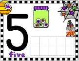 Halloween Number Ten Frame Mats