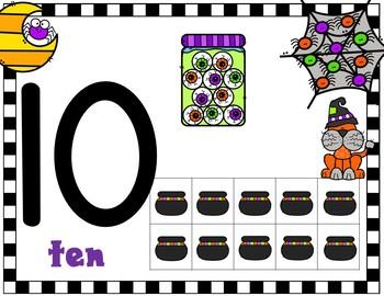 Halloween Number Ten Frame Mats