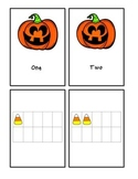 Halloween Number Word and Ten Frame Counting #1-10