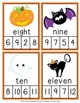 Halloween Number Words Clip Cards