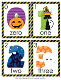 Halloween Number Words Write the Room Activity
