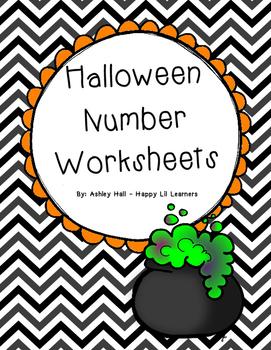 Halloween Number Worksheets