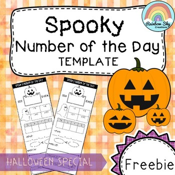 Halloween Number of the Day - 4 Digit Numbers ( FREEBIE )