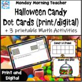 Halloween Numbers 1-10 Number Talk dot cards print digital