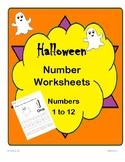 Halloween Numbers 1-12