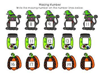 Halloween Numbers 1-20