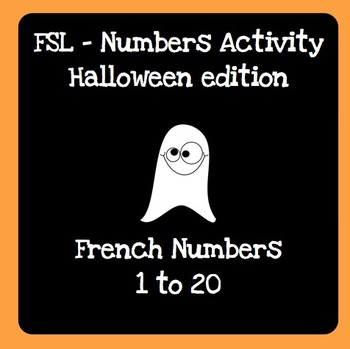 Halloween Numbers 1-20 Activity - French