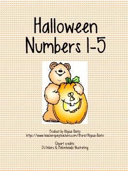 Halloween Numbers 1-5