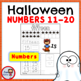 Halloween Numbers 11-20 Worksheets