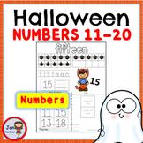 Halloween Numbers 11-20 Worksheets