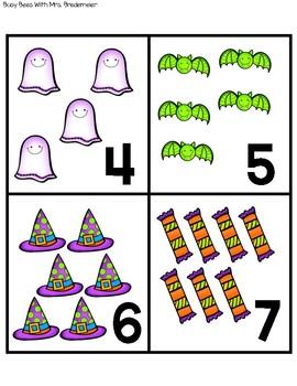 Halloween Numbers Bingo 0-10