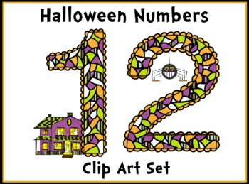Halloween Numbers Clip Art Set Super Cute!
