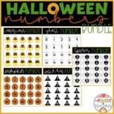 Halloween Numbers Clipart Bundle