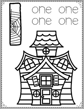 Halloween Numbers Coloring Sheets