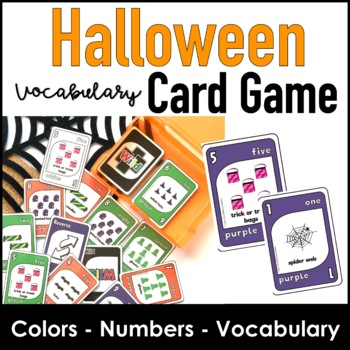 Halloween Numbers Colors & Vocabulary Card Game