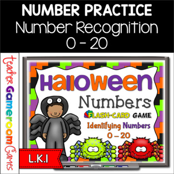 Halloween  Flash Card Set - Numbers 0-20