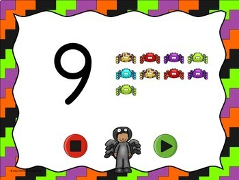 Halloween  Flash Card Set - Numbers 0-20