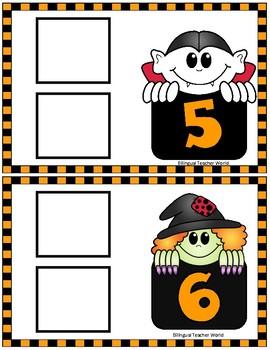 Halloween Numbers Game:  1-10