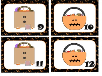 Halloween Numbers Matching Game