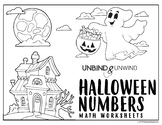 Halloween Numbers Math Worksheets