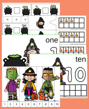 Halloween Numbers Set: 1 to 10