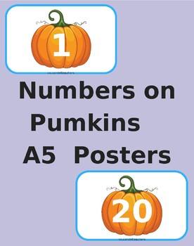 Halloween Numbers on Pumpkins 1-100