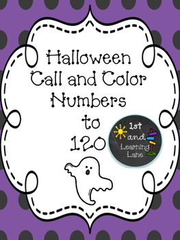 Halloween Numbers to 120 Game FREEBIE