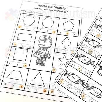 Halloween: Math Worksheets