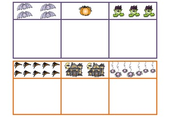 Halloween Numeral to Set Matching