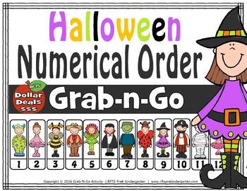 Halloween Numerical Order (Grab-n-Go)
