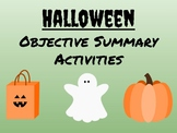 Halloween Objective Summary Activities