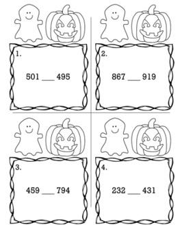 Halloween October 2nd Grade {Scoot Game/Task Cards} Math Bundle