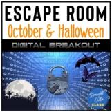 Halloween Middle School ELA Digital Breakout Escape Room  