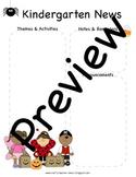 Halloween, October Kindergarten Newsletter Template