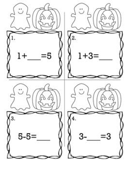 Halloween October Kindergarten {Scoot Game/Task Cards} Math Bundle