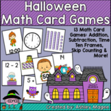 Halloween October Math Card Games: 13 Games for Addition,