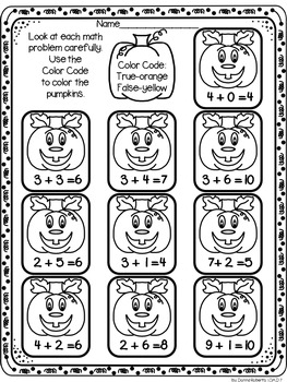 Halloween (October) Math for time fillers, early finishers, HW, skills review...