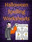 Halloween (October) Spelling Homework Worksheets *USE WITH