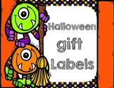 Halloween October gift tags
