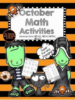 Halloween October Themed Math Printables!