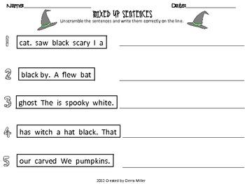 Halloween/ October worksheets