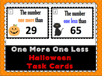 Halloween One More, One Less Task Cards