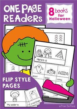 Halloween One Page Readers - Printable Flip Books