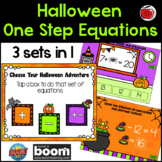 Halloween One Step Equation BOOM Cards - Addition and Subtraction