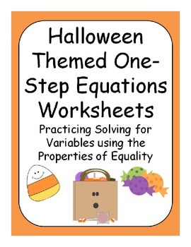 Halloween One Step Equations ( Pre - Algebra )