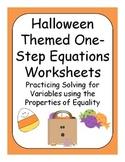 Halloween One Step Equations ( Pre - Algebra )